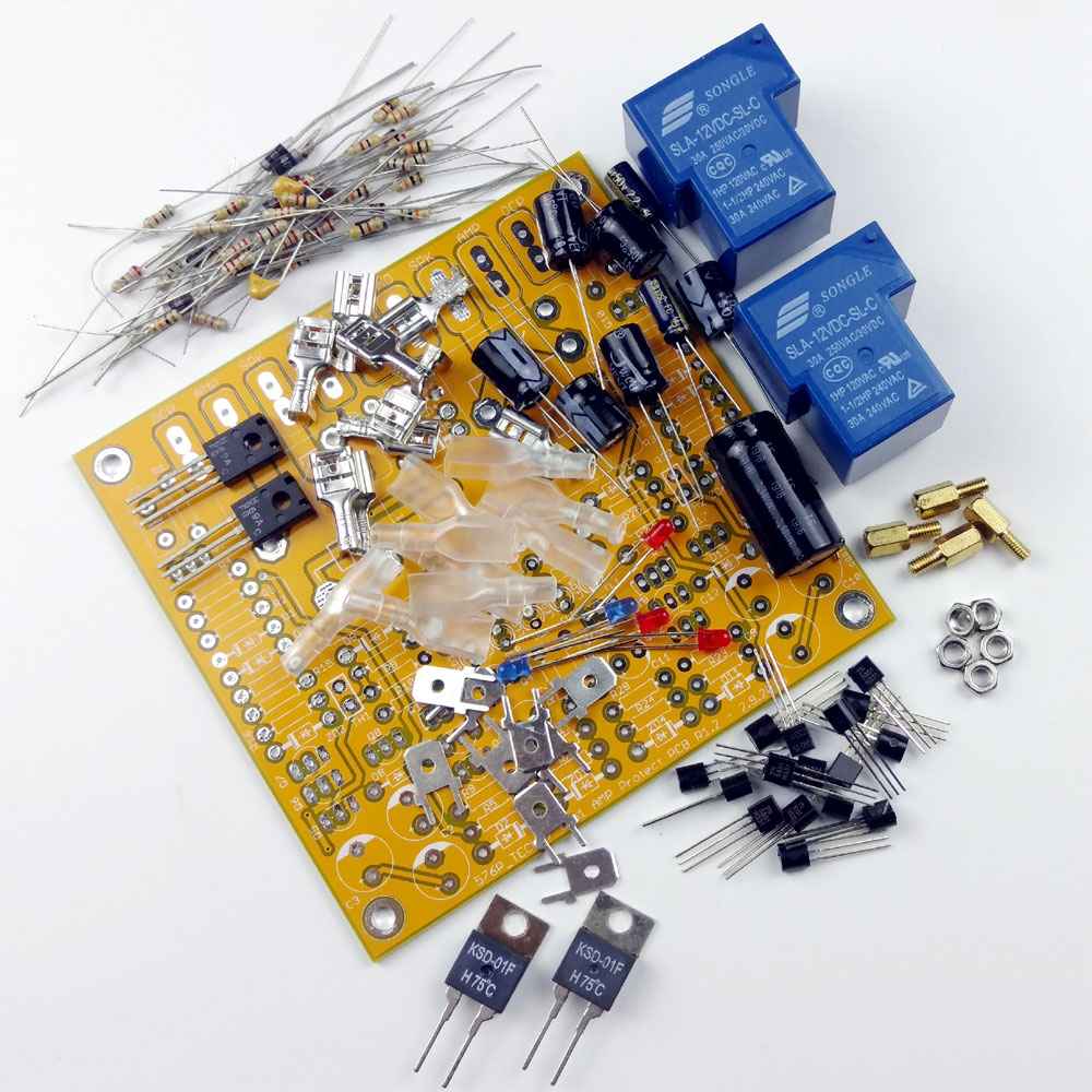 6in1 Diy Speaker Protector With Delay Over Current Protection High Temperature Detector Circuit Diagram 1531
