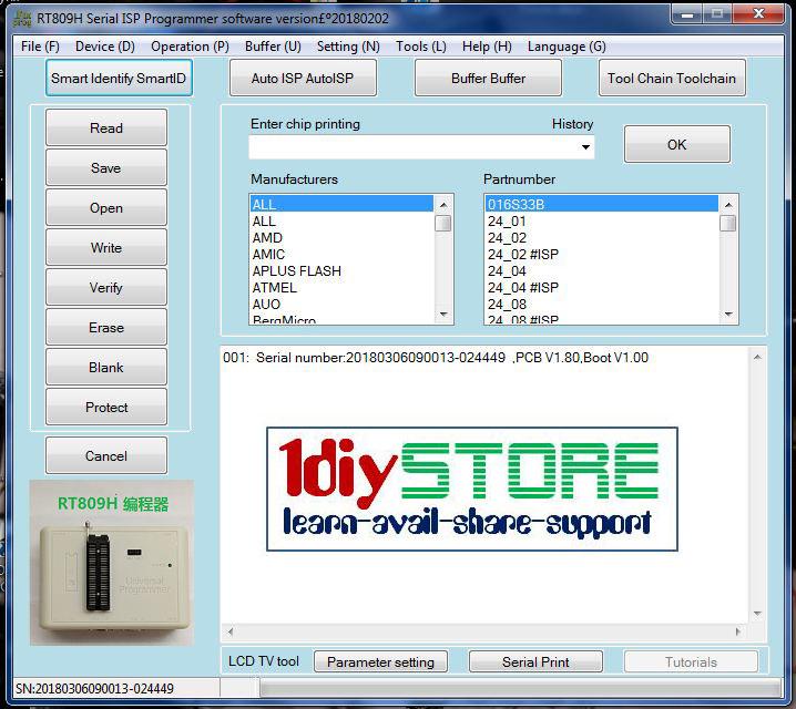 Universal programmer software
